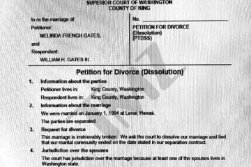 盖茨夫妇离婚可能还有90天的冷静期